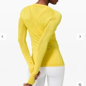 Lululemon Swiftly Tech Long Sleeve Crew Soleil